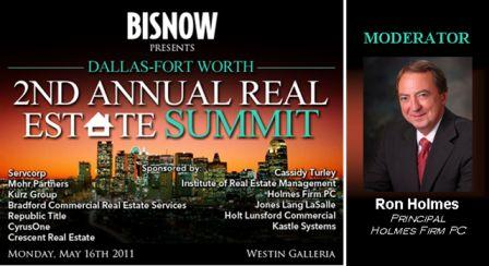 Ron Holmes moderating summit on the Industrial real estate market