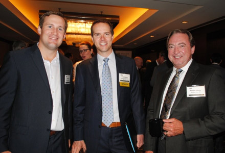 Dustin Volz of Younger Partners, Brian Adams of IPA Capital Markets, and real estate attorney Ron Holmes of Holmes Firm PC.