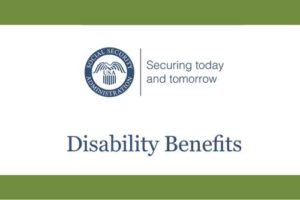 Logo and title from the Social Security Administration's Disability Benefits publication