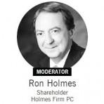 Ron Holmes moderating DFW Retail Forum